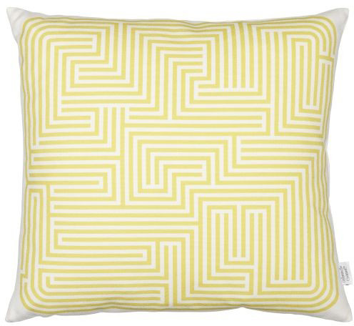 Graphic Print Pillows: Maze, mustard