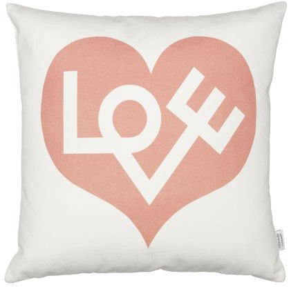 Graphic Print Pillows: Love, pink