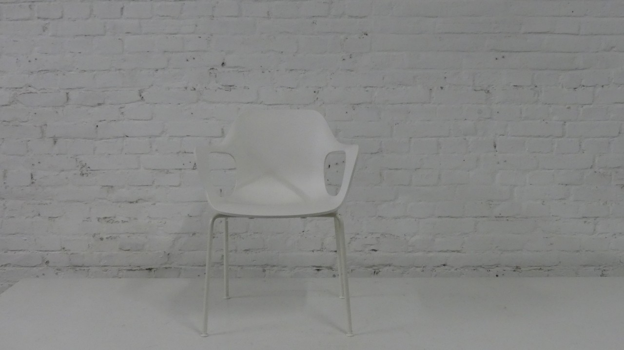 RESERVIERT Outlet vitra HAL Armchair White Edition stapelbar outdoorfähig