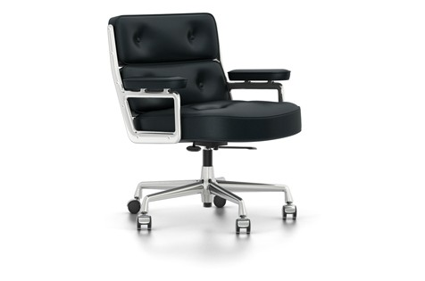 Outlet vitra Lobby chair ES 104 Leder schwarz
