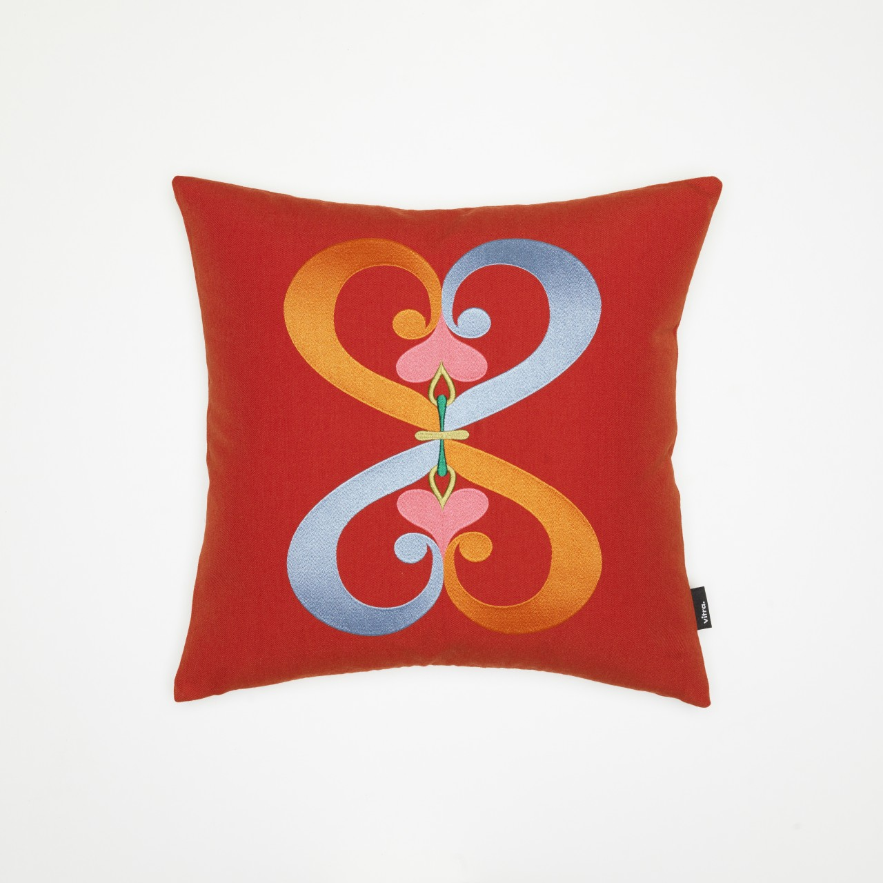 Embroidered Pillows: Double Heart
