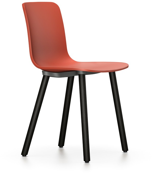 Outlet vitra HAL Wood Stuhl schwarz orange