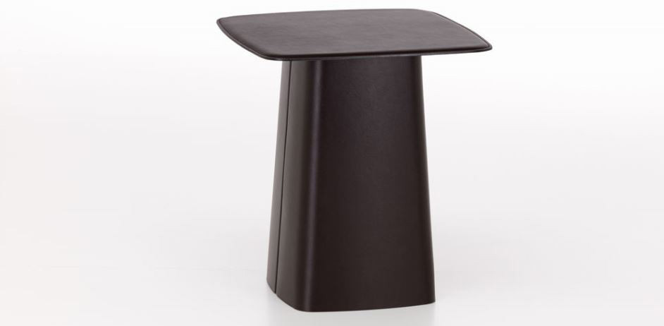 Leather Side Table mittel: chocolate
