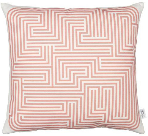 Graphic Print Pillows: Maze, pink