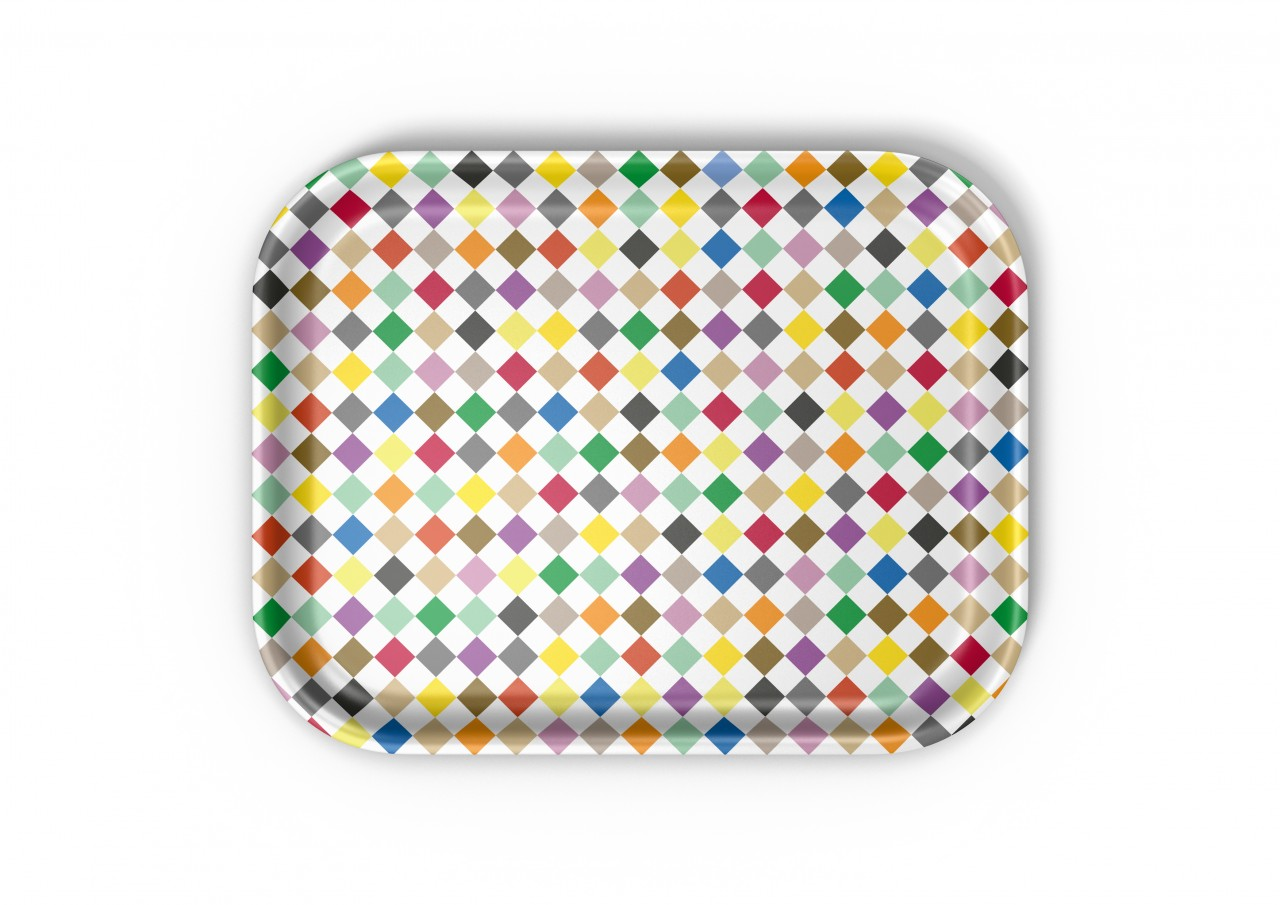 Classic Tray: Diamonds multicolour