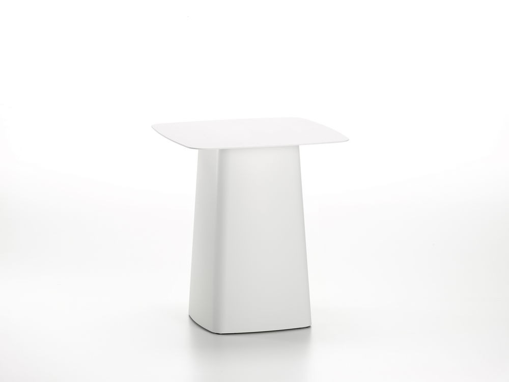 White Metal Side Table (outdoor)