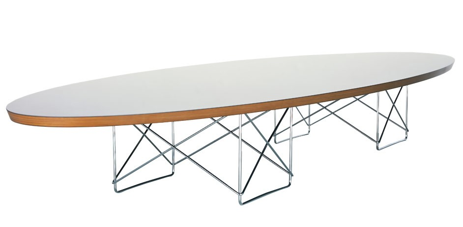 Outlet vitra Elliptical Table ETR weiß chrom
