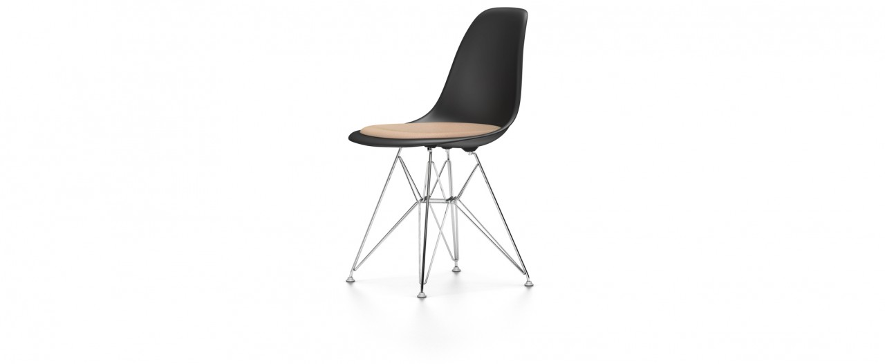 Vitra DSR mit Sitzpolster - Eames Plastic Side Chair