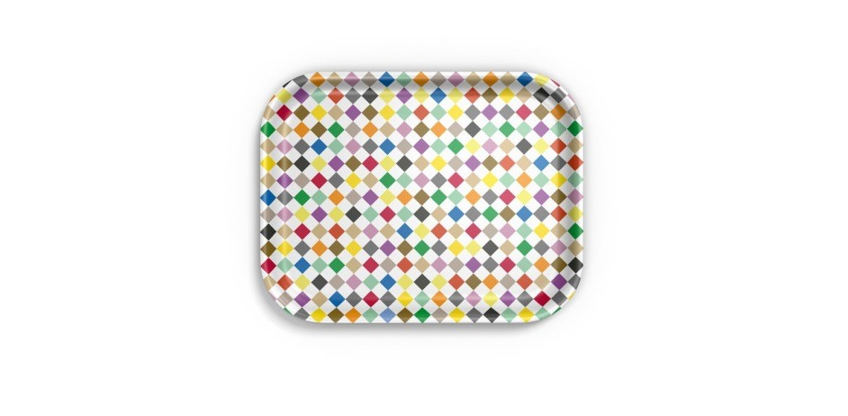 Classic Tray medium: Diamonds multicolour