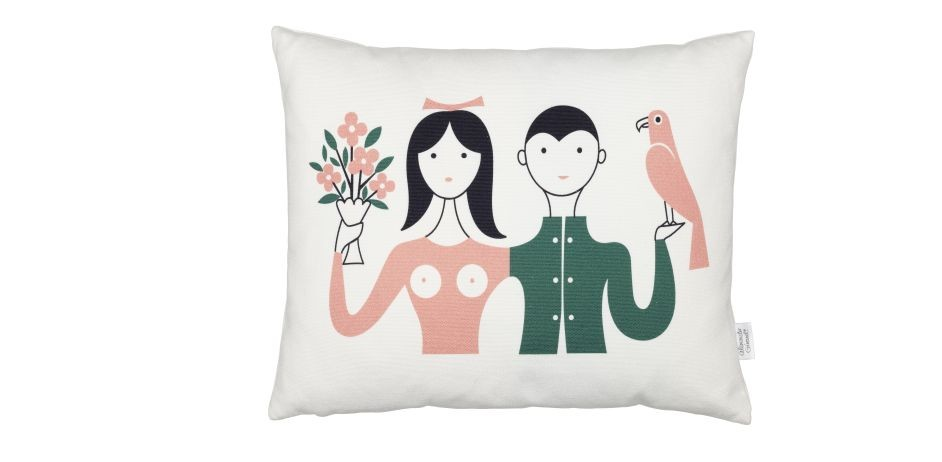 Graphic Print Pillows: Couple