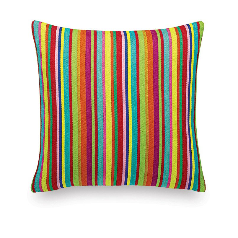 Classic Maharam Pillows: Millerstripe multicolored bright