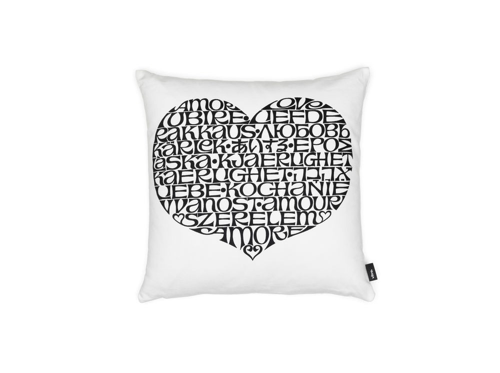Graphic Print Pillow: International Love Heart