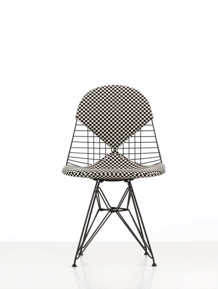 RESERVIERT Outlet vitra DKR-2 wire chair Sonderedition Checker Stoff