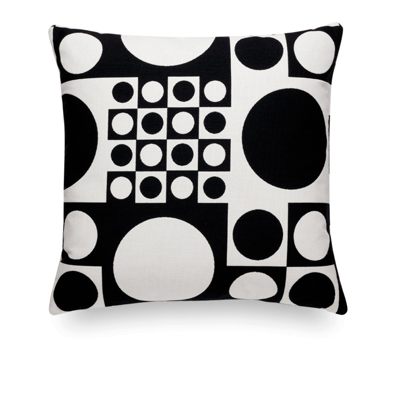 Classic Maharam Pillows: Geometri black/white