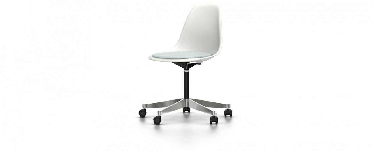 Vitra PSCC mit Sitzpolster - Eames Plastic Side Chair
