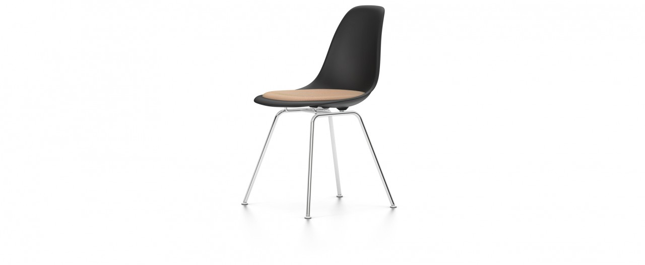 Vitra DSX mit Sitzpolster - Eames Plastic Side Chair