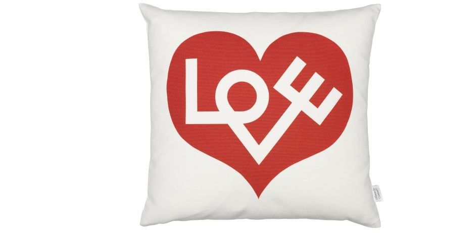 Graphic Print Pillows: Love, red